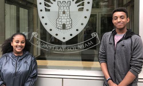 Himma Aklilu and Christopher Holland, SMASH Wharton scholars